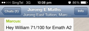 maths tuition centre testimonial