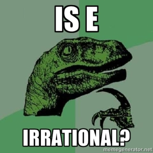e-irrational