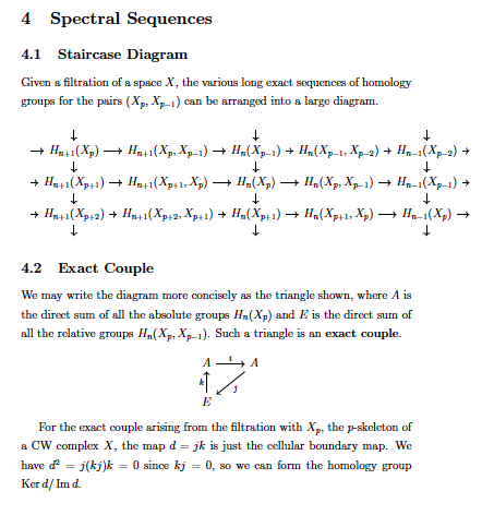 Spectral sequence singapore maths tuition unfortunately my latex to wordpress converter app cant handle commutative diagrams well so i will upload a printscreen instead ccuart Images