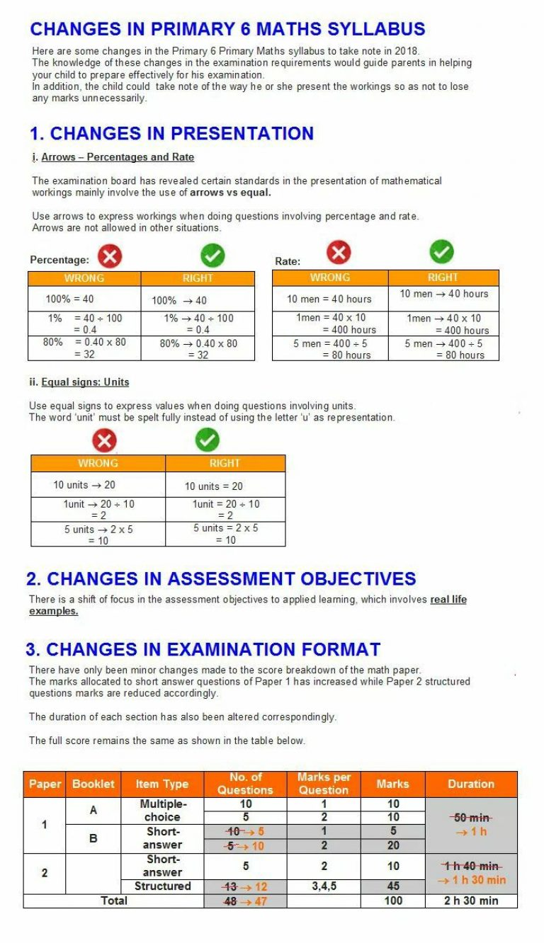 Important Changes) PSLE Math: Arrow -> vs Equal= | Singapore Maths ...